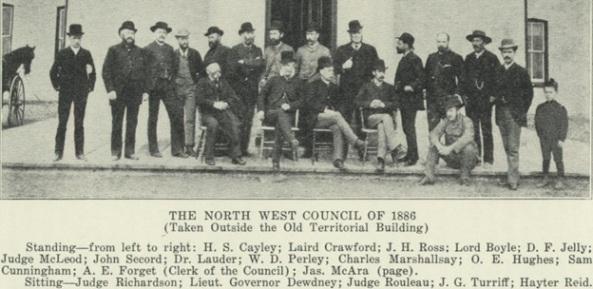 Charles Marshallsay - North West Council 1886 - Saskatchewan and its People 1924 - http://www.rootsweb.ancestry.com/~cansk/SaskatchewanAndItsPeople/VolumeII/northwestcouncil1886.html