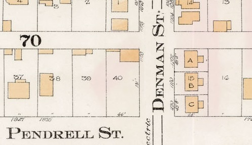 1120 Denman Street - detail from Goad's Atlas of the city of Vancouver - 1912 - Vol 1 - Plate 8 - Barclay Street to English Bay and Cardero Street to Stanley Park