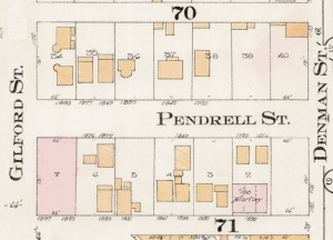 1800 Block Pendrell Street - Detail from Goad's Atlas of the city of Vancouver – 1912 – Vol 1 – Plate 8 – Barclay Street to English Bay and Cardero Street to Stanley Park