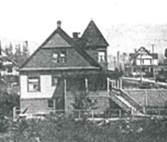 997 Denman Street - Detail from VPL 2654 Denman Street – north of Barclay Street – around 1904