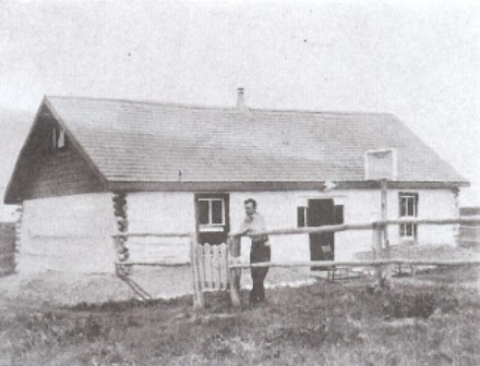 """Poplar logs framed the second house,"" Maclean's Magazine, May 15, 1938, page 10."