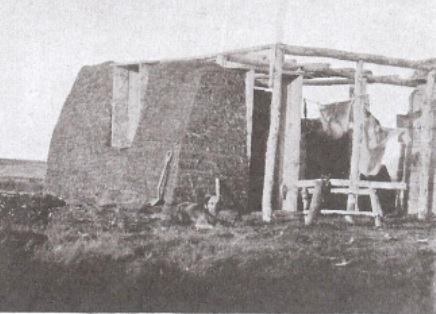 """Sod house under construction,"" Maclean's Magazine, May 15, 1938, page 10."
