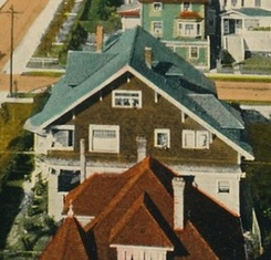 1100 Gilford Street - about 1910 - detail from postcard - Gilford Street - Vancouver BC - Valentine and Sons Publishing Co