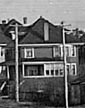 1893 Pendrell Street - about 1909 - detail from postcard - The Pier - English Bay - Vancouver BC