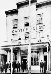 Carter House - about 1887 - Vancouver City Archives - Hot P1 - [Exterior of Carter House hotel - 166 Water Street]; http://searcharchives.vancouver.ca/exterior-of-carter-house-hotel-166-water-street;rad