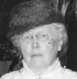Elisabeth Rogers, about 1943, detail from Mr. and Mrs. Jonathan Rogers in costume for a rededication of Stanley Park; Vancouver City Archives, Port P1436.2; http://searcharchives.vancouver.ca/mr-and-mrs-jonathan-rogers-in-costume-for-rededication-of-stanley-park-2.