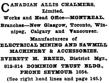 Henderson's Greater Vancouver City Directory, 1913, Part 1, page 678