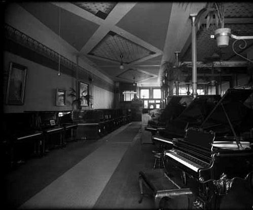 Montelius Piano House Ltd -interior - 1909 - Vancouver Public Library - VPL Accession Number 7497