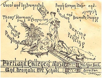 Portland College of Music and Dramatic Art School - #358 - W Edgar Buck - Oregon - 1892, http://arcweb.sos.state.or.us/pages/tm/music/music358.html