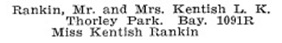 Mr and Mrs Kentish Rankin - Vancouver Social Register and Club Directory, 1914, page 56