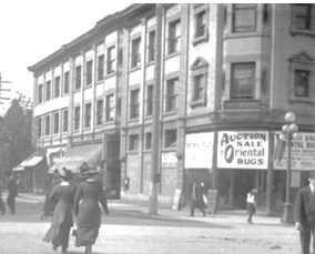 Tunstall Block - 709 Dunsmuir Street - about 1912 - City of Vancouver Archives - CVA 660-326; http://searcharchives.vancouver.ca/tunstall-block-at-709-dunsmuir-street