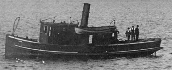 """Lois"" - detail from Vancouver City Archives - Bo P260 - Barque Inch Keith being towed by the tugboat Lois from Hastings Sawmill - 1893; http://searcharchives.vancouver.ca/barque-inch-keith-being-towed-by-tugboat-lois-from-hastings-sawmill;rad"