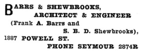 Henderson's Greater Vancouver City Directory - 1913 - Part 1 - page 595