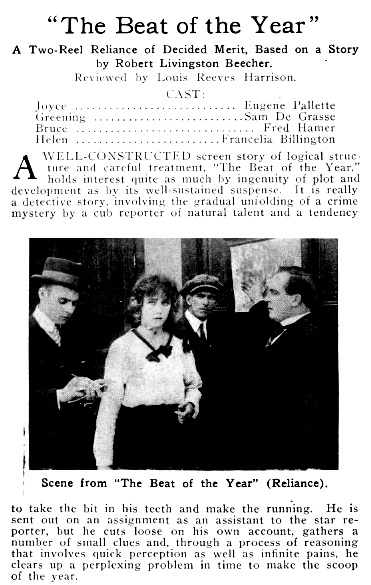 The Moving Picture World, January 2, 1915, New York, Chalmers Publishing Company, Volume 23, page 54, https://archive.org/stream/movingpicturewor23newy#page/54/mode/1up