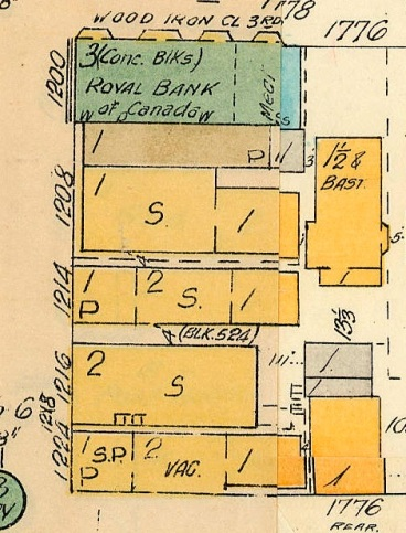 Goad's Atlas of Vancouver, volume 1, Plate 64, 1913 [detail], http://searcharchives.vancouver.ca/plate-64-cardero-street-to-comox-street-to-denman-street-to-beach-avenue-burnaby-street