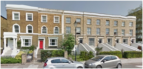 89 Stockwell Park Road: the house with the red door: Google Streets: searched July 15, 2014