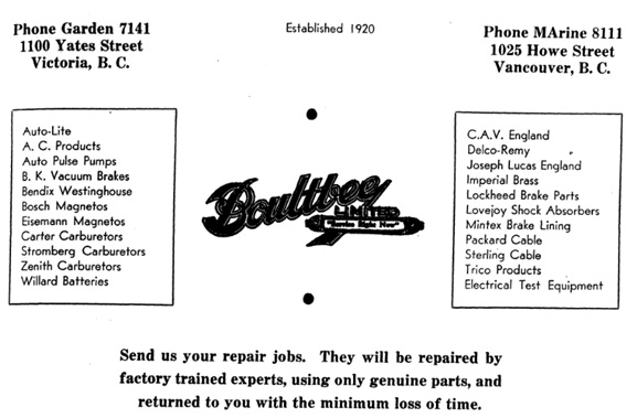 Boultbee Limited - Vancouver and New Westminster City Directory - 1950 - page 1199
