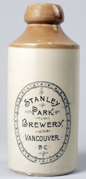 Stanley Park Brewery beer bottle/label, Vancouver, c. 1896 [sic, probably somewhat later]; http://bc150.ecuad.ca/museum/04_07.html