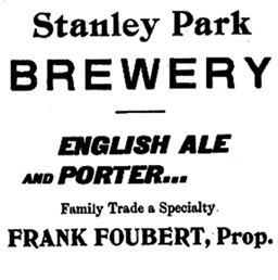 Stanley Park Brewery - Vancouver City Directory - 1899-1900 - page 158