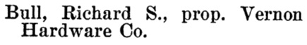 Richard S Bull - Henderson's BC Gazetteer and Directory - 1900-1901 - page 639 - Vernon, British Columbia