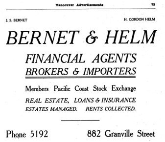 Henderson's City of Vancouver and North Vancouver Directory, 1910, Part 1, page 73
