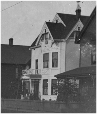 1041 Robson Street - Detail from View of 1000 block of Robson Street, showing streetcar and residences of James Stark, H.T. Lockyer, J.R. Seymour, and E.S. Scoullar; Vancouver City Archives, SGN 1079.2; http://searcharchives.vancouver.ca/view-of-1000-block-of-robson-street-showing-streetcar-and-residences-of-james-stark-h-t-lockyer-j-r-seymour-and-e-s-scoullar