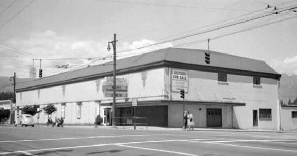 Georgia Auditorium, 1805 West Georgia (at Denman St.), June 9, 1959. City of Vancouver Archives, CVA 447-69; http://searcharchives.vancouver.ca/georgia-auditorium-1805-west-georgia-st;rad