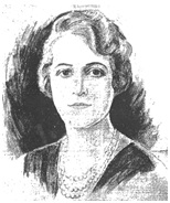 Mrs. S.D. Brooks, portrait sketch by Oscar Knuteson, Vancouver Sun, November 15, 1930, page 17