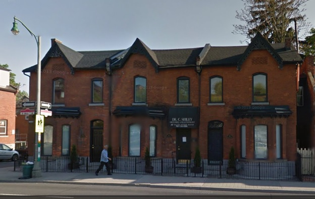 319 Main Street West, Hamilton, Ontario: right side of this three set of townhouses: Google Streets: searched November 18, 2014.