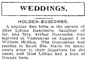 Sault Sainte Marie Evening News , Saturday, August 19, 1911, page 3, http://newspaperarchive.com/us/michigan/sault-sainte-marie/evening-news/1911/08-19/page-3