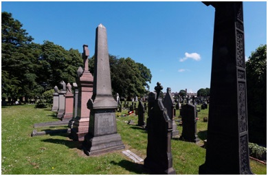 Portion of Toxteth Park Cemetery, Google Streets, searched November 5, 2014