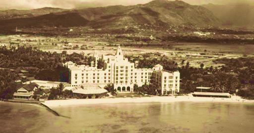 Royal Hawaiian Hotel, Honolulu, 1927 postcard, http://www.hawaiipictureoftheday.com/royal-hawaiian-hotel/