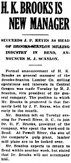 The Bend Bulletin, October 28, 1920, page 1, http://oregonnews.uoregon.edu/lccn/sn96088235/1920-10-28/ed-1/seq-1.pdf