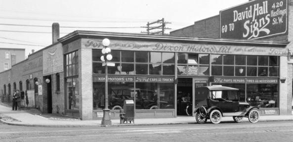Trans N13 - [Dixon Motors Ltd., 1291-1299 Granville Street, Vancouver City Archives, 1920 or 1921, http://searcharchives.vancouver.ca/dixon-motors-ltd-1291-1299-granville-street-top-and-bowell-mcdonald-motor-co-ltd-1105-granville-street-bottom