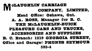 McLaughlin Carriage Company - Henderson's Greater Vancouver City Directory - 1916 - page 759