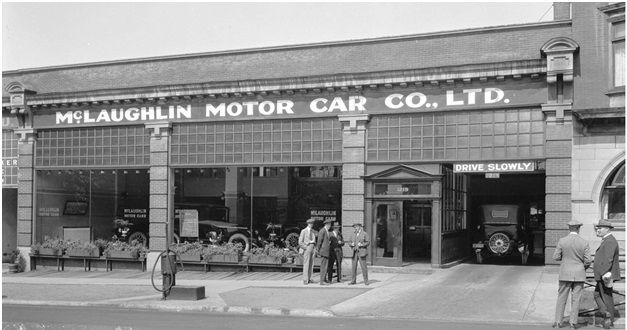 Trans N14 - [Two views of McLaughlin Motor Car Co. Ltd., 1219 Georgia Street], Vancouver City Archives, 1920 or 1921, http://searcharchives.vancouver.ca/two-views-of-mclaughlin-motor-car-co-ltd-1219-georgia-street.