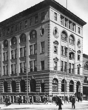 M-11-29 - The Molson's Bank Building [corner of Seymour & Hastings], Vancouver City Archives, http://searcharchives.vancouver.ca/molsons-bank-building-corner-of-seymour-hastings