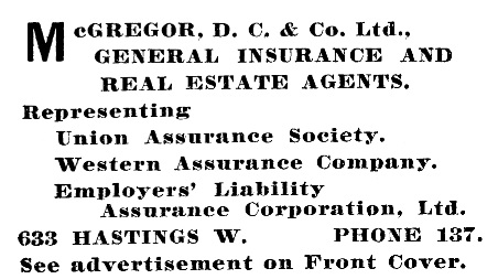D C McGregor and Co - Henderson's City of Vancouver Directory - 1906 - page 458