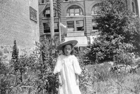 Jennie McGregor beside building; Vancouver City Archives; Port P280.1 - Jennie [McGregor], about 1898, http://searcharchives.vancouver.ca/jennie-mcgregor-2.