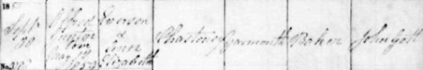"""Alfred Gunter [sic] Chasteney; """"England, Norfolk Bishop's Transcripts, 1685-1941,"""" index and images, FamilySearch (https://familysearch.org/pal:/MM9.1.1/J311-5G8 : accessed 19 March 2015), Alfred Gunter Chasteney, 30 Sep 1860; citing Christening, Yarmouth, Norfolk, England, Record Office, Central Library, Norwich; FHL microfilm 1,526,648."""