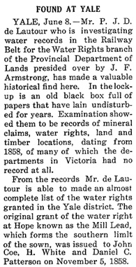 Found at Yale - Nicola Valley News - June 14 1912 - page 3 - P J D de Lautour' http://historicalnewspapers.library.ubc.ca/view/collection/nicola/date/1912-06-14/query/lautour/mode/any/in/all/result/14#3!lautour
