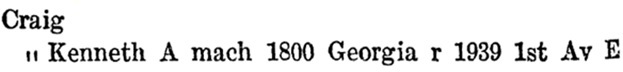 Kenneth Arthur Craig - Henderson's Greater Vancouver City Directory - 1914 - page 408