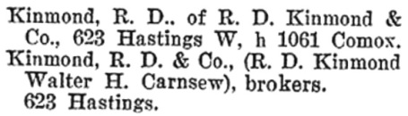 R D Kinmond and Walter H Carnsew - Henderson's BC Gazetteer and Directory - 189 - page 641