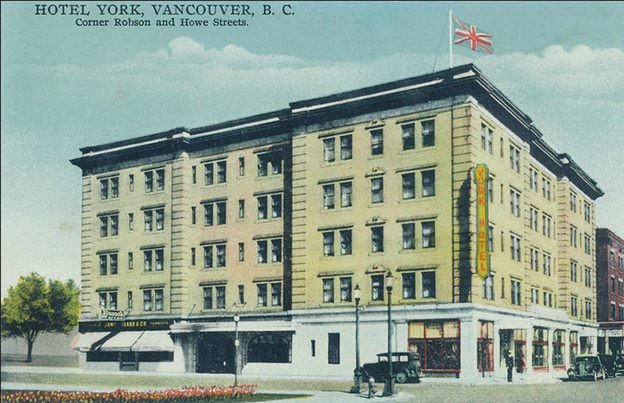York Hotel, postcard, late 1930s, https://www.flickr.com/photos/45379817@N08/8693375731/
