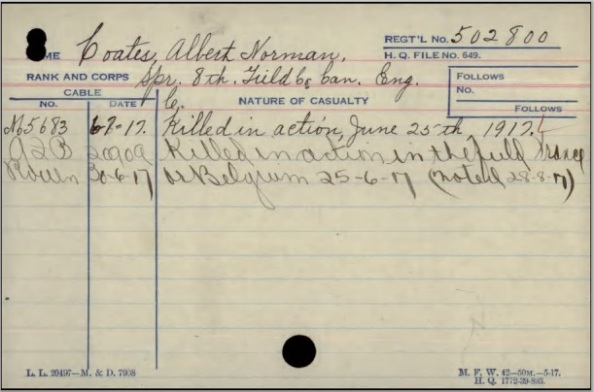 Albert Norman Coates, extract from service record;  http://central.bac-lac.gc.ca/.item/?op=pdf&app=CEF&id=B1816-S040.