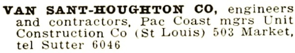 Van Sant-Houghton Co - Crocker-Langley San Francisco Directory - 1916 - page 1094; https://archive.org/stream/crockerlangleysa1916sanfrich#page/1904/mode/1up