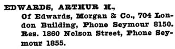 Arthur H Edwards - Henderson's Greater Vancouver City Directory - 1917 - page 476