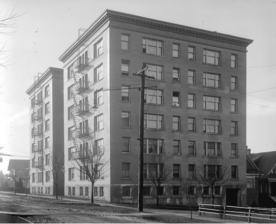 Broughton apartments, about 1910, City of Vancouver Archives, CVA 99-98, http://searcharchives.vancouver.ca/broughton-apartments.