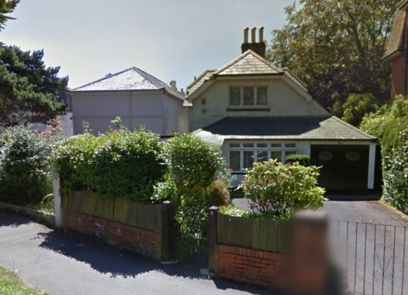 Number 5, Manor Road, Bournemouth, England; Google Streets, searched May 19, 2015.