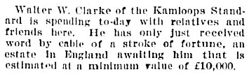 Purely Personal, Victoria Daily Colonist, September 4, 1899, page 2, http://archive.org/stream/dailycolonist18990904uvic/18990904#page/n1/mode/1up